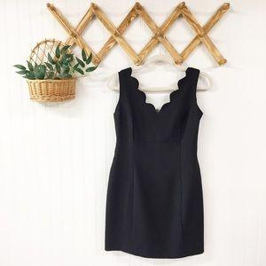 VTG   Scalloped Neckline Little Black Dress